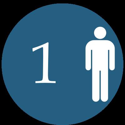 1 osoba