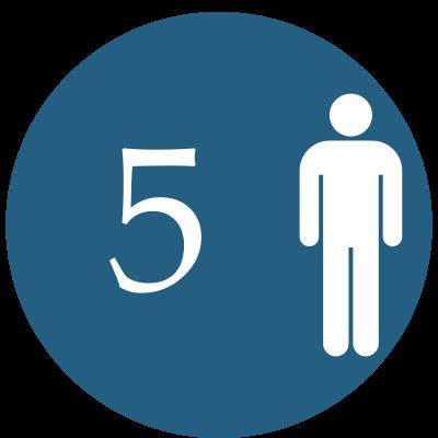 5 osôb