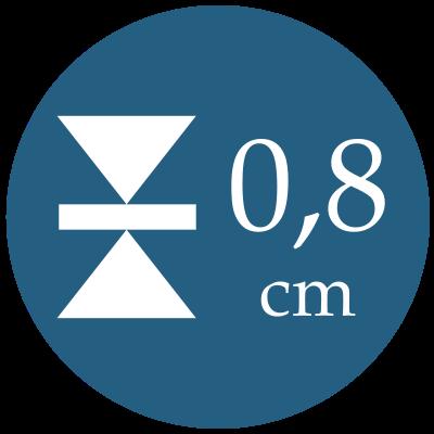 Hrúbka 0,8 cm