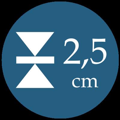 Hrúbka 2,5 cm
