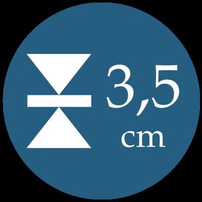 Hrúbka 3,5 cm